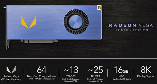 AMD Vega专业显卡将在本月底发售